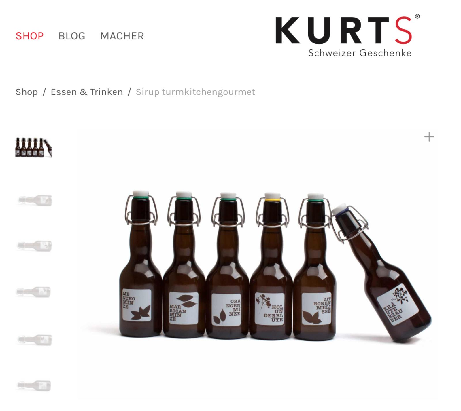 Onlineshop Kurts.ch